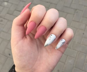 beautiful, nails, and white image