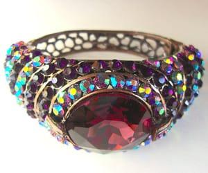 bracelet, glass, and purple image