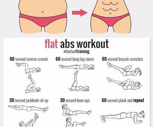 workout, abs, and exercise image