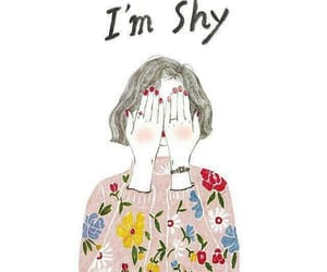 shy, girl, and drawing image