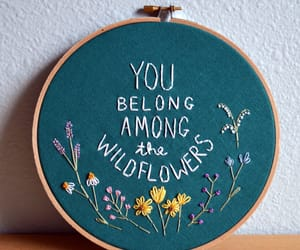 flowers, embroidery, and wildflowers image