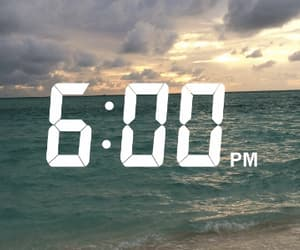 sea, time, and water image