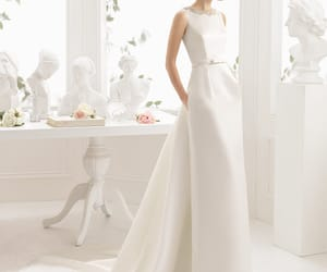 wedding, wedding dresses, and white dress image