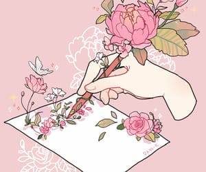 aesthetic, flowers, and art image