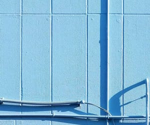 blue, minimalism, and wall image