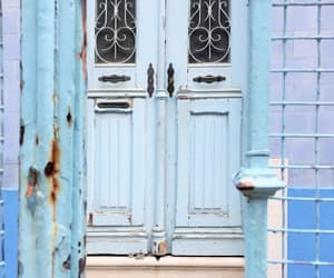 blue, doors, and pastel image