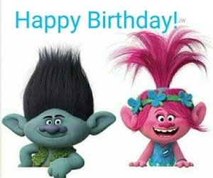 happy birthday, trolls, and troll image