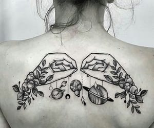 tattoo, art, and back image