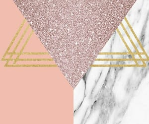 gold, pink, and wallpaper image