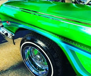 cars, green, and vintage image