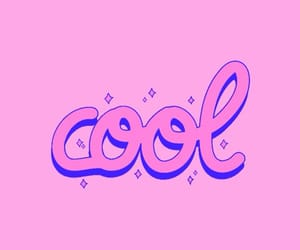 cool, cursive, and pink image
