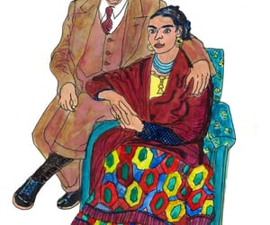 caricatura, Diego Rivera, and frida kahlo image