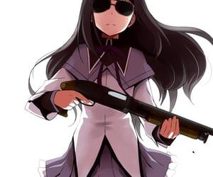 anime girl and akemi homura image
