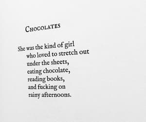 books, chocolate, and poetry image