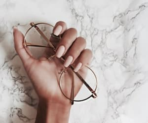 nails, glasses, and marble image