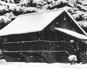 anime, black and white, and snow image