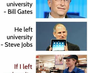 bill gates, funny, and college image