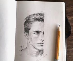art, boys, and sketchbook image