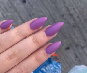 acrylics, nails, and purple image