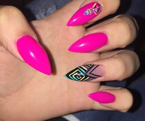 acrylic, pink, and nails image
