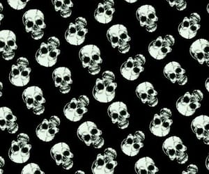 background, skull, and pattern image