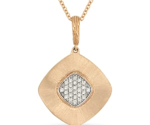 diamond, pendant, and cable chain image