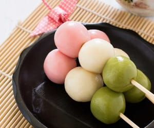 japanese sweets, japanese foods, and dango image