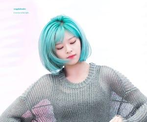 blue hair, jeongyeon, and yoo jungyeon image