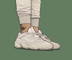 sneakers, desert rat, and yeezy 500 image