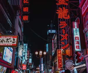 japan, travel, and neon image