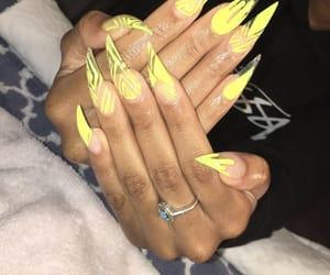 nails, stiletto, and acrylic image