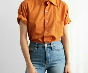 fashion, girl, and orange image