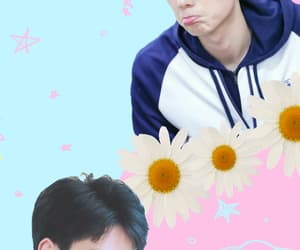 cute wallpaper, hu yitian, and pastel wallpaper image