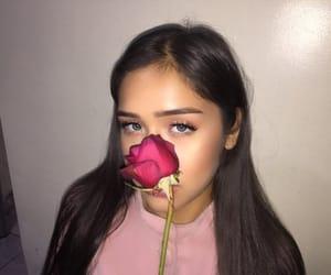 beautiful, blue eyes, and blush image