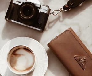 camera and coffee image