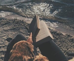 beach, book, and tumblr image