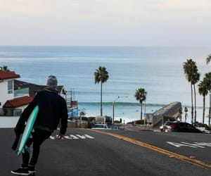 road, skater, and street image