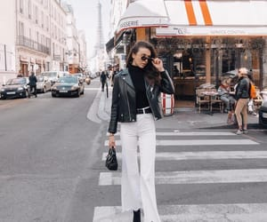 black, france, and outfit image