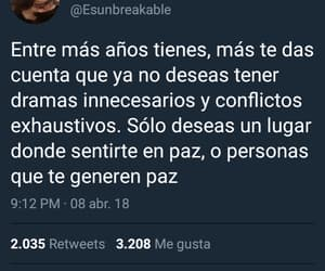 paz, frases en español, and twitter image