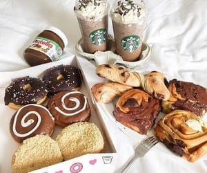 food, starbucks, and nutella image