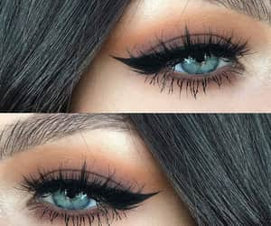 cat eyes and makeup image