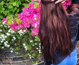 beautiful, brownhair, and pink image