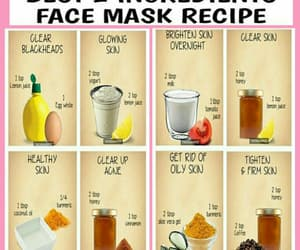 beauty, tips, and face mask recipe image