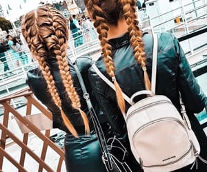 hair, friends, and skirt image