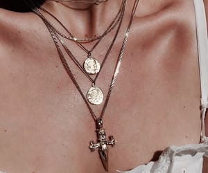 fashion, indie, and necklace image