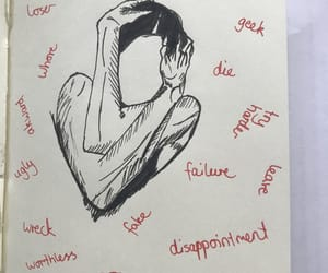 art, drawing, and selflove image