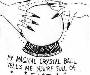 crystal ball, shit, and life image