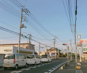 crossroad, japan, and road image