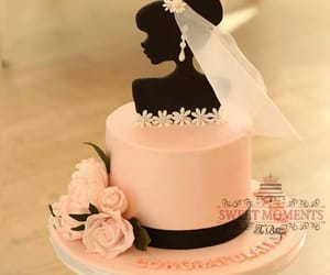 bride, cake, and groom image
