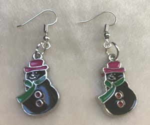 christmas snowman, christmas earrings, and snowman earrings image